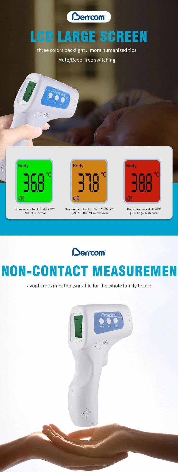 Berrcom Jxb 178 Termometros Infrarrojos Sin Contacto Uso Corporal Etdisa Lectura fácil y cómoda en su pantalla lcd. berrcom jxb 178 termometros infrarrojos sin contacto uso corporal